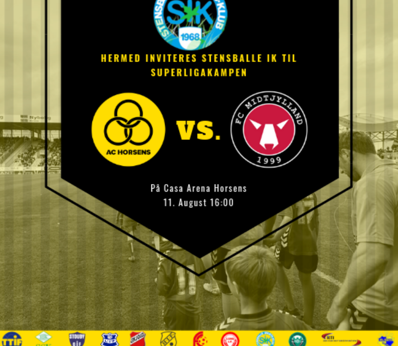 KLUBDAG: GRATIS ADGANG TIL AC HORSENS-FC MIDTJYLLAND DEN 11. AUGUST