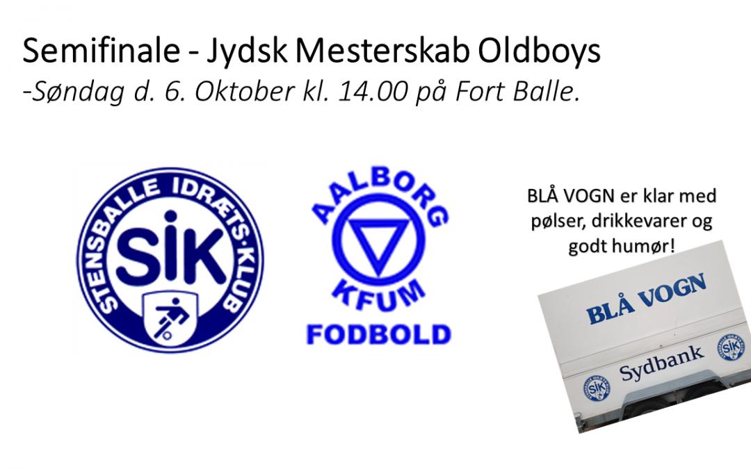 OLDBOYS SPILLER SEMIFINALE I JM MOD AALBORG KFUM SØNDAG KL. 14