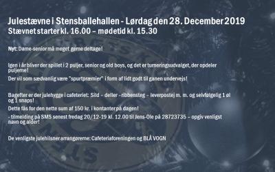 JULESTÆVNE 2019 FOR HERRE- OG DAMESENIOR